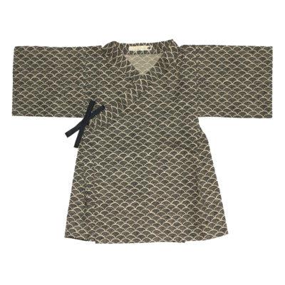 kimono seigaiha bleu marine